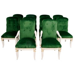 Set of 10 Marge Carson Dining Chairs