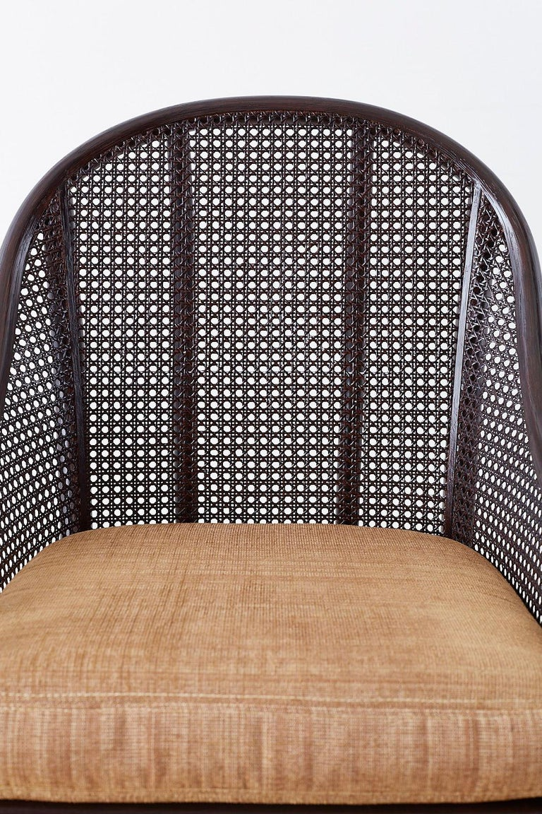 Set of 10 McGuire Rattan Cane Belden Dining Chairs For Sale 2