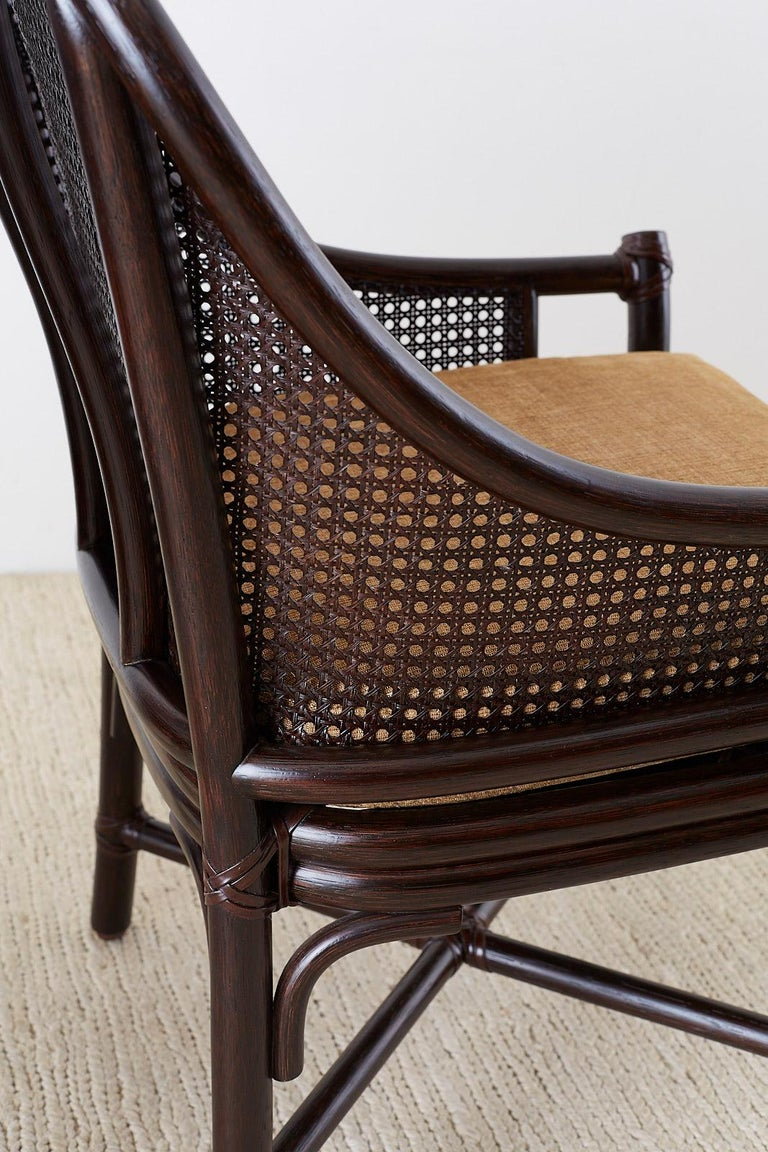 Set of 10 McGuire Rattan Cane Belden Dining Chairs For Sale 8