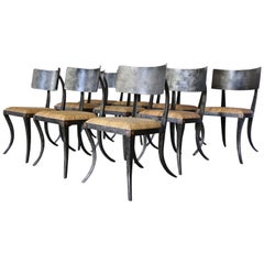 Set of 10 Metal Klismos Chairs by Ched Berenguer-Topacio
