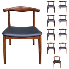 Set of '10' Mid-20th Century Wood Open Back Chairs