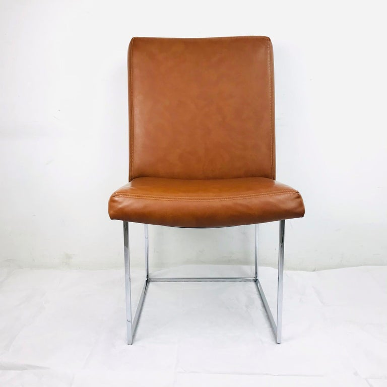 Mid-Century Modern Set of 10 Milo Baughman Dining Chairs For Sale