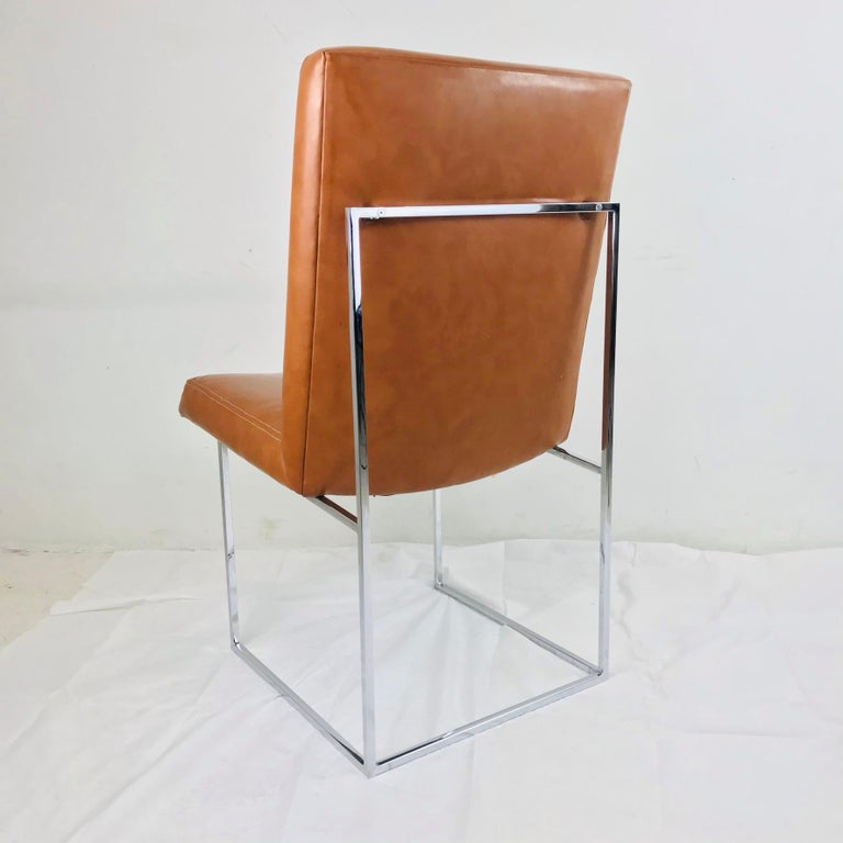 Late 20th Century Set of 10 Milo Baughman Dining Chairs For Sale