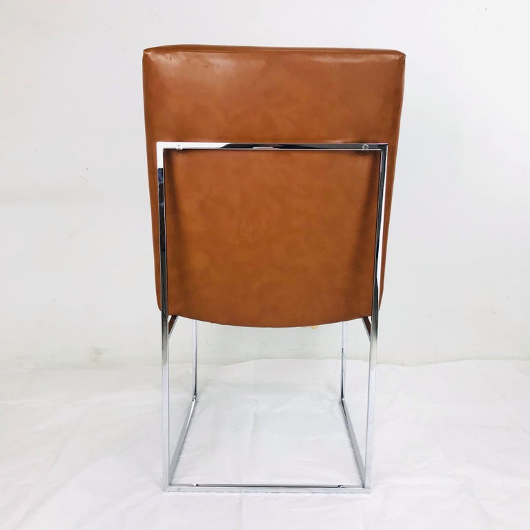 Leather Set of 10 Milo Baughman Dining Chairs For Sale