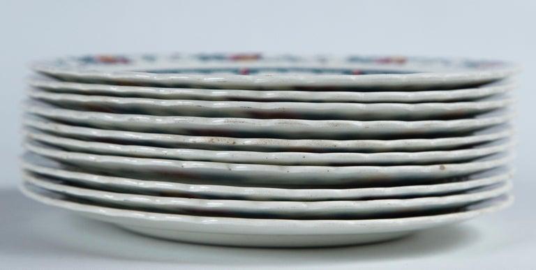 English Set of 10 Minton's Stanhope Plates, England, circa 1900 For Sale