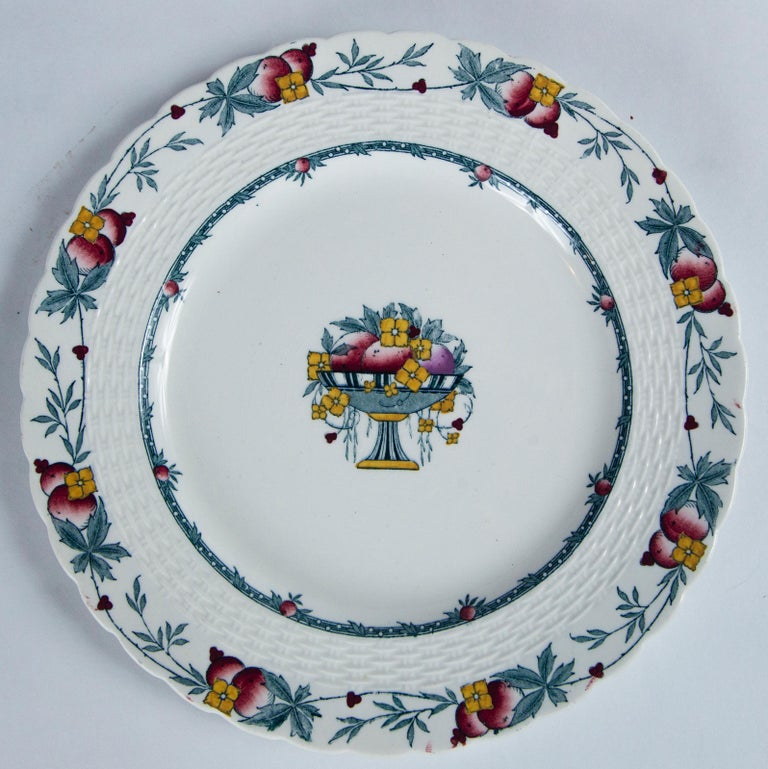 20th Century Set of 10 Minton's Stanhope Plates, England, circa 1900 For Sale