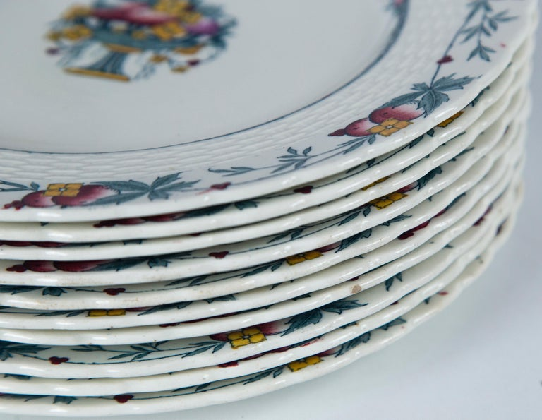 Set of 10 Minton's Stanhope Plates, England, circa 1900 For Sale 3