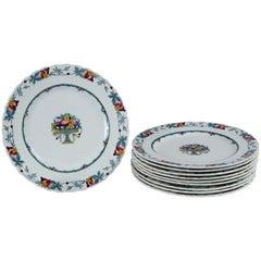 Set of 10 Minton's Stanhope Plates, England, circa 1900