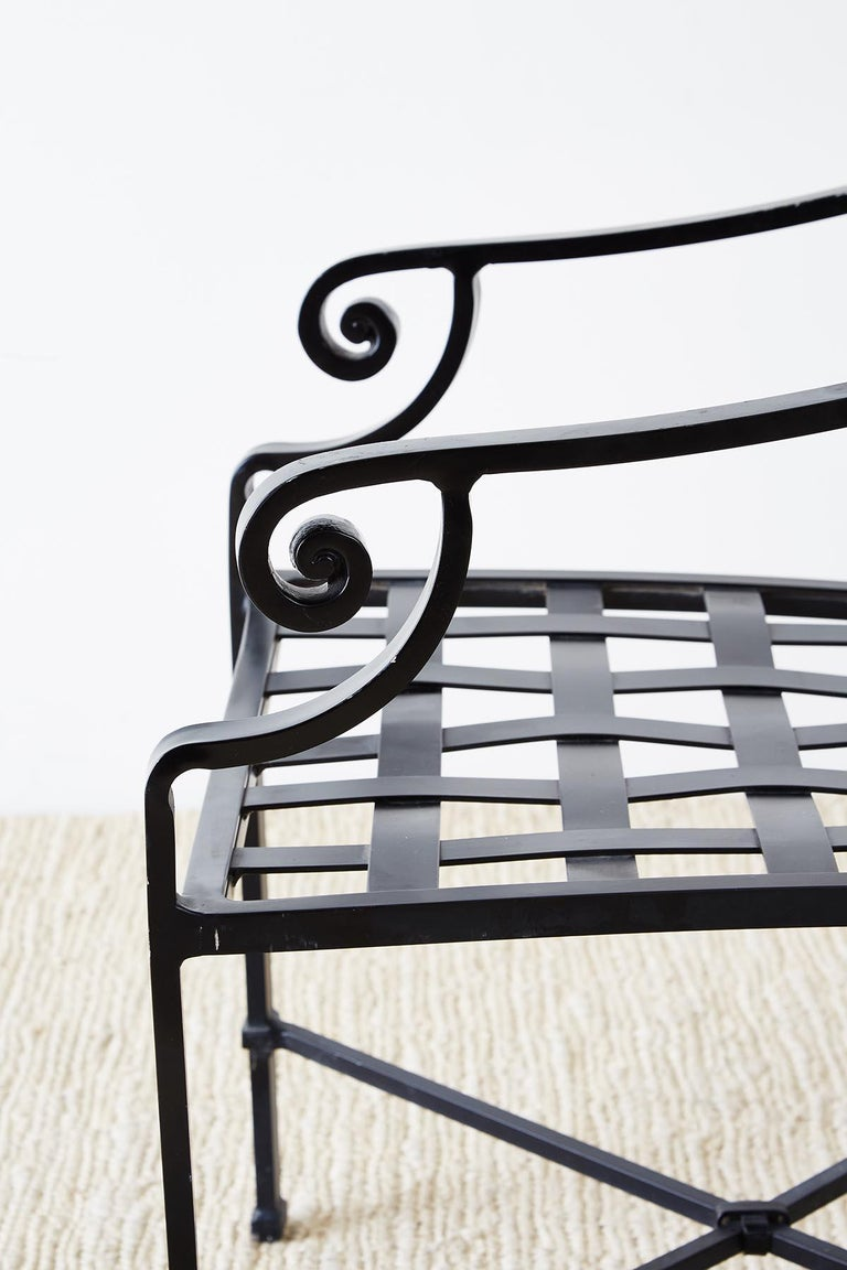 Set of 10 Neoclassical Style Aluminum Patio Garden Chairs For Sale 2