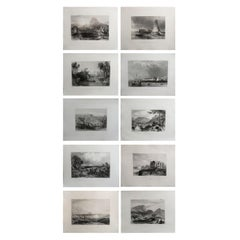 Set of 10 Original Antique Prints of Africa, circa 1840