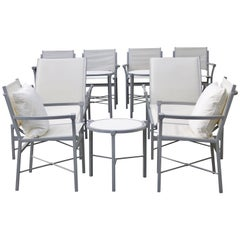 Set of 10 Outdoor Garden Furniture, Chic Design Gray and White-6 More Available