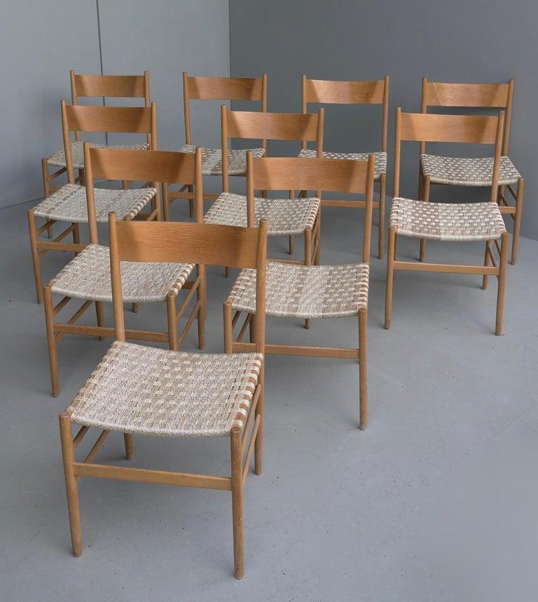 Mid-Century Modern Set of 10 Plywood