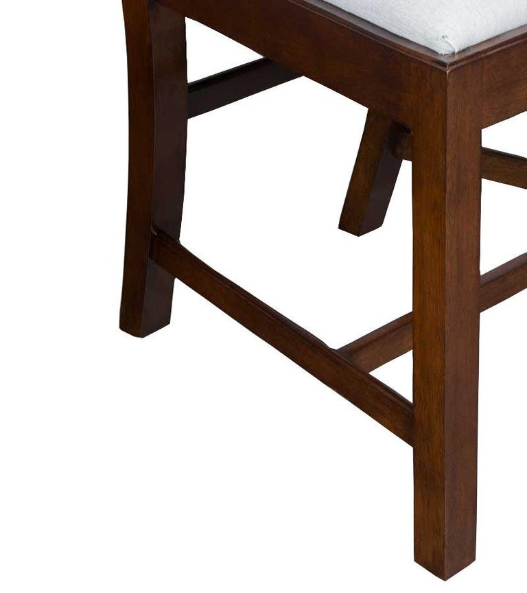 Chippendale Dining Room Chairs: Set Of 10 Solid Mahogany Chippendale Style Dining Room