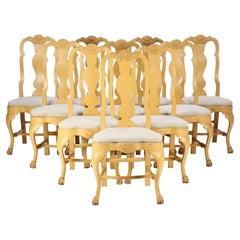 Set of 10 Swedish Rococo Chairs