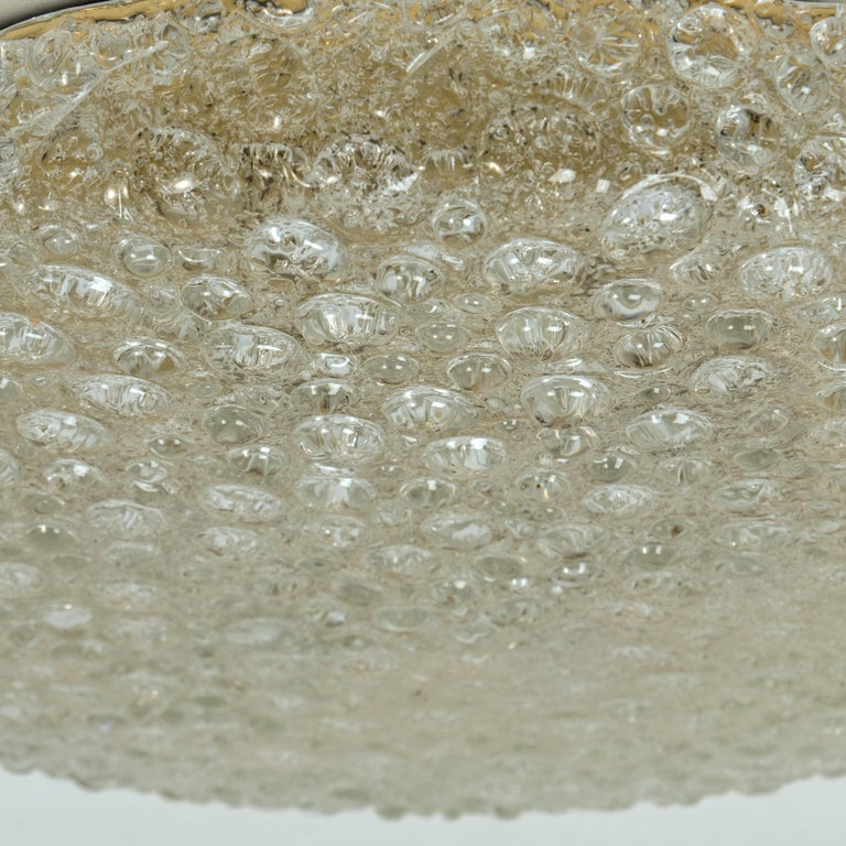 Set of 10 Thick Massive Bubble Handmade Glass Flush Mount or Wall Lights, 1960 For Sale 8
