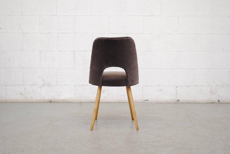 Velvet Set of Ten Thonet Barrel Chairs For Sale
