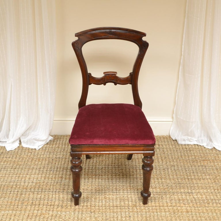 Set of 10 Victorian antique mahogany dining chairs This quality set of 10  Victorian antique mahogany - Set Of 10 Victorian Antique Mahogany Dining Chairs For Sale At 1stdibs