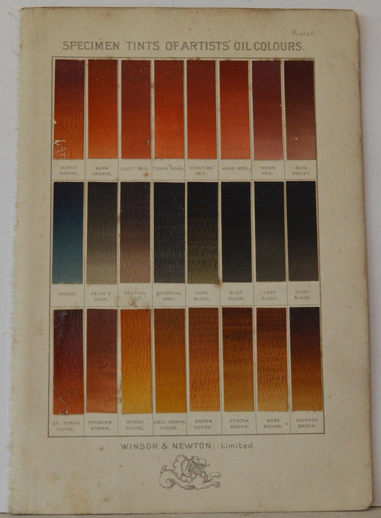 Fabulous set of specimen tints of artists oil colors  Published by Winsor & Newton Ltd, circa 1900  Unframed.  Some minor foxing to a few of them.  The measurement given is the paper size of one of the charts.