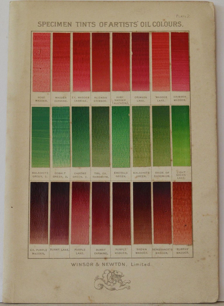 English Set of 12 Vintage Artists Oil Color Charts, circa 1900 For Sale
