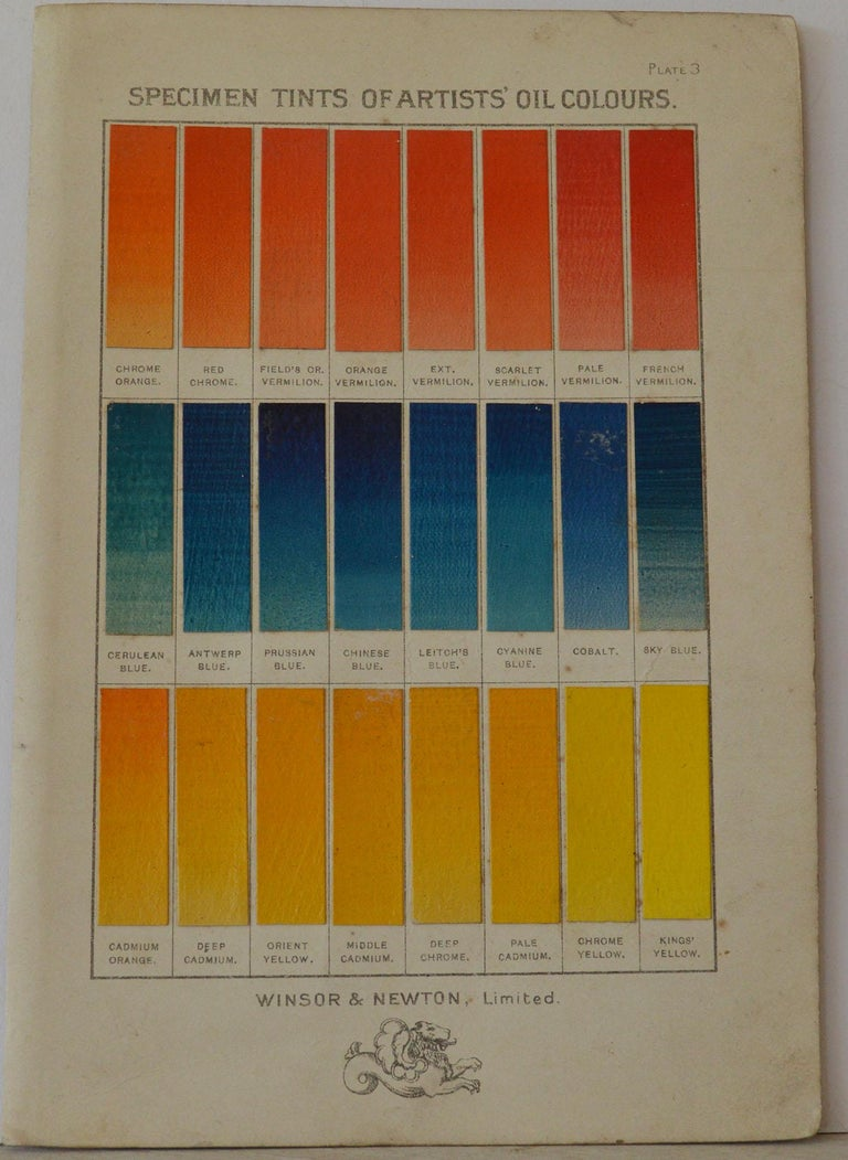 Other Set of 12 Vintage Artists Oil Color Charts, circa 1900 For Sale