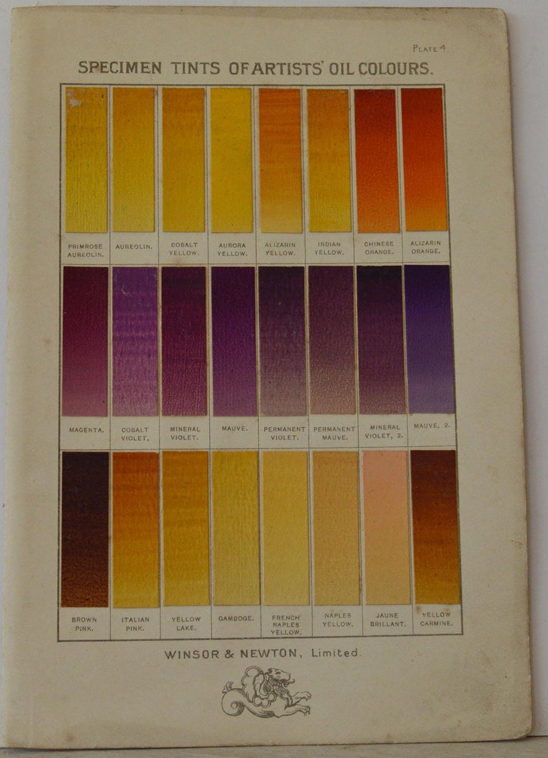 Set of 12 Vintage Artists Oil Color Charts, circa 1900 In Good Condition For Sale In St Annes, Lancashire