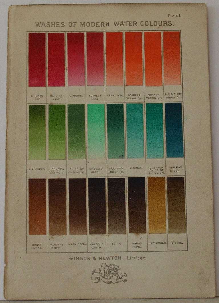 Early 20th Century Set of 12 Vintage Artists Oil Color Charts, circa 1900 For Sale