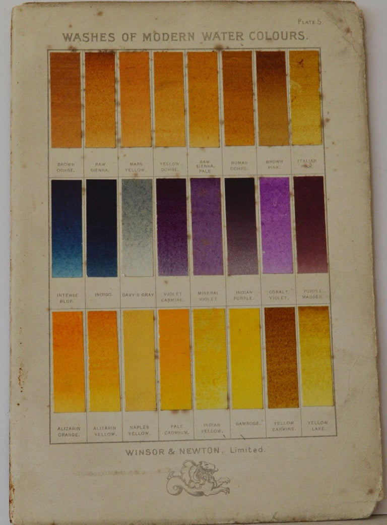 Paper Set of 12 Vintage Artists Oil Color Charts, circa 1900 For Sale