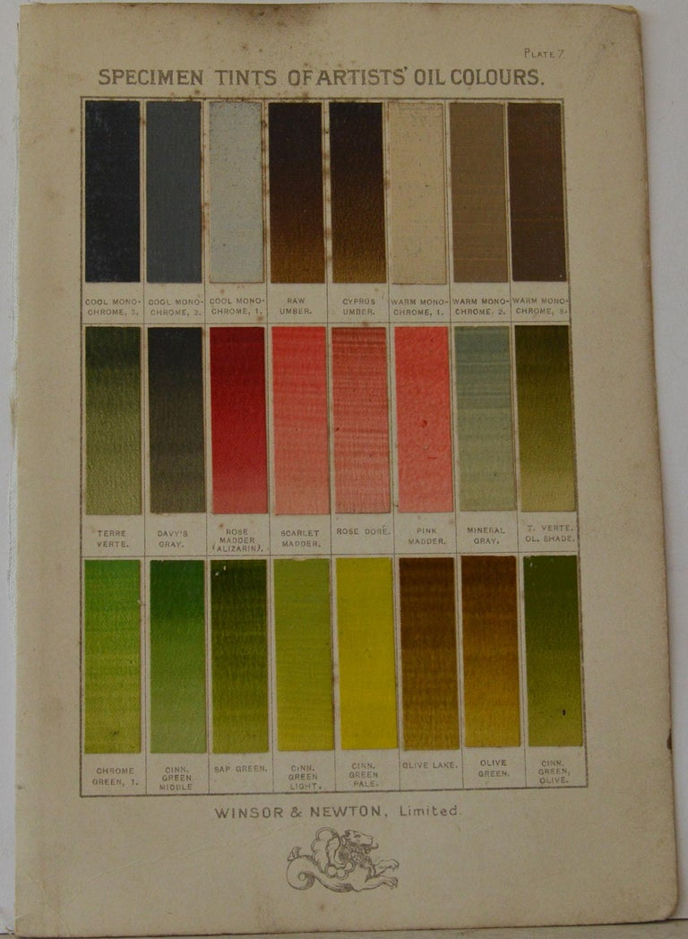 Set of 12 Vintage Artists Oil Color Charts, circa 1900 For Sale 2