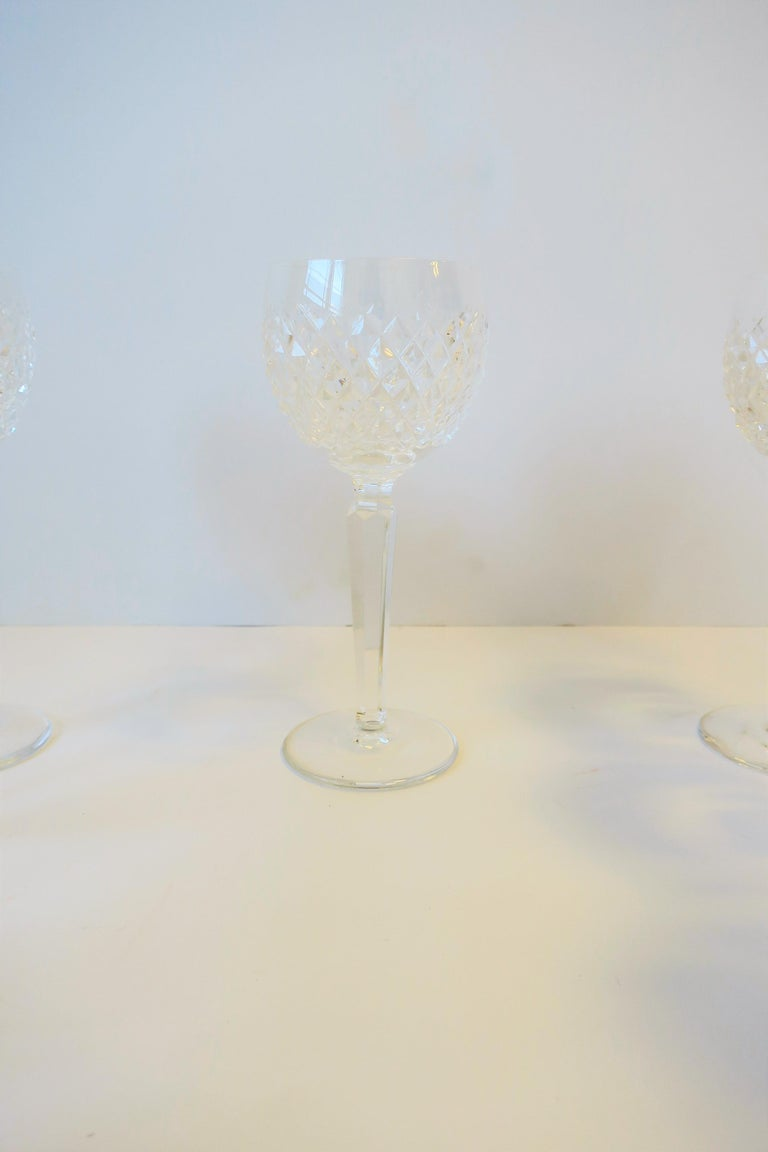Vintage Waterford Crystal Wine or Water Goblet Glasses, Set of 10 For Sale 5