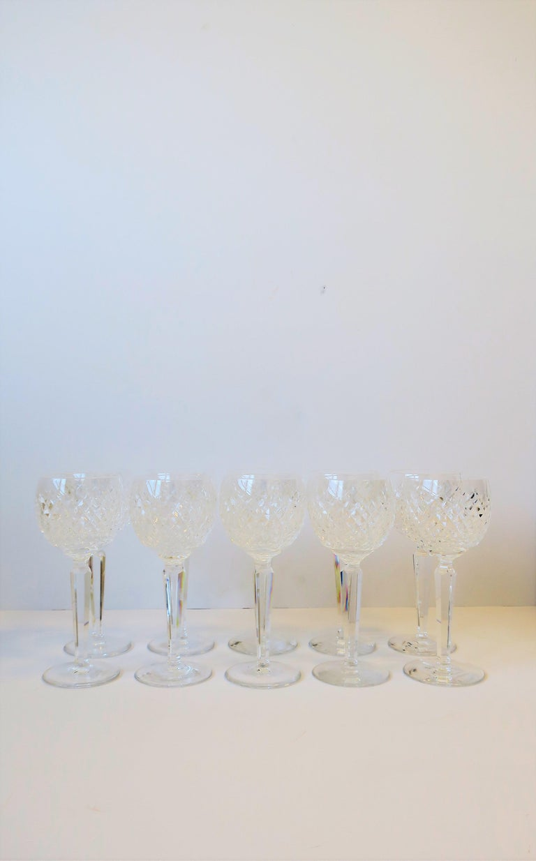 Vintage Waterford Crystal Wine or Water Goblet Glasses, Set of 10 In Good Condition In New York, NY