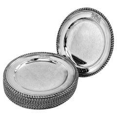 Set of 11 Antique Georgian Sterling Silver Dinner Plates 1815 Robert Garrard