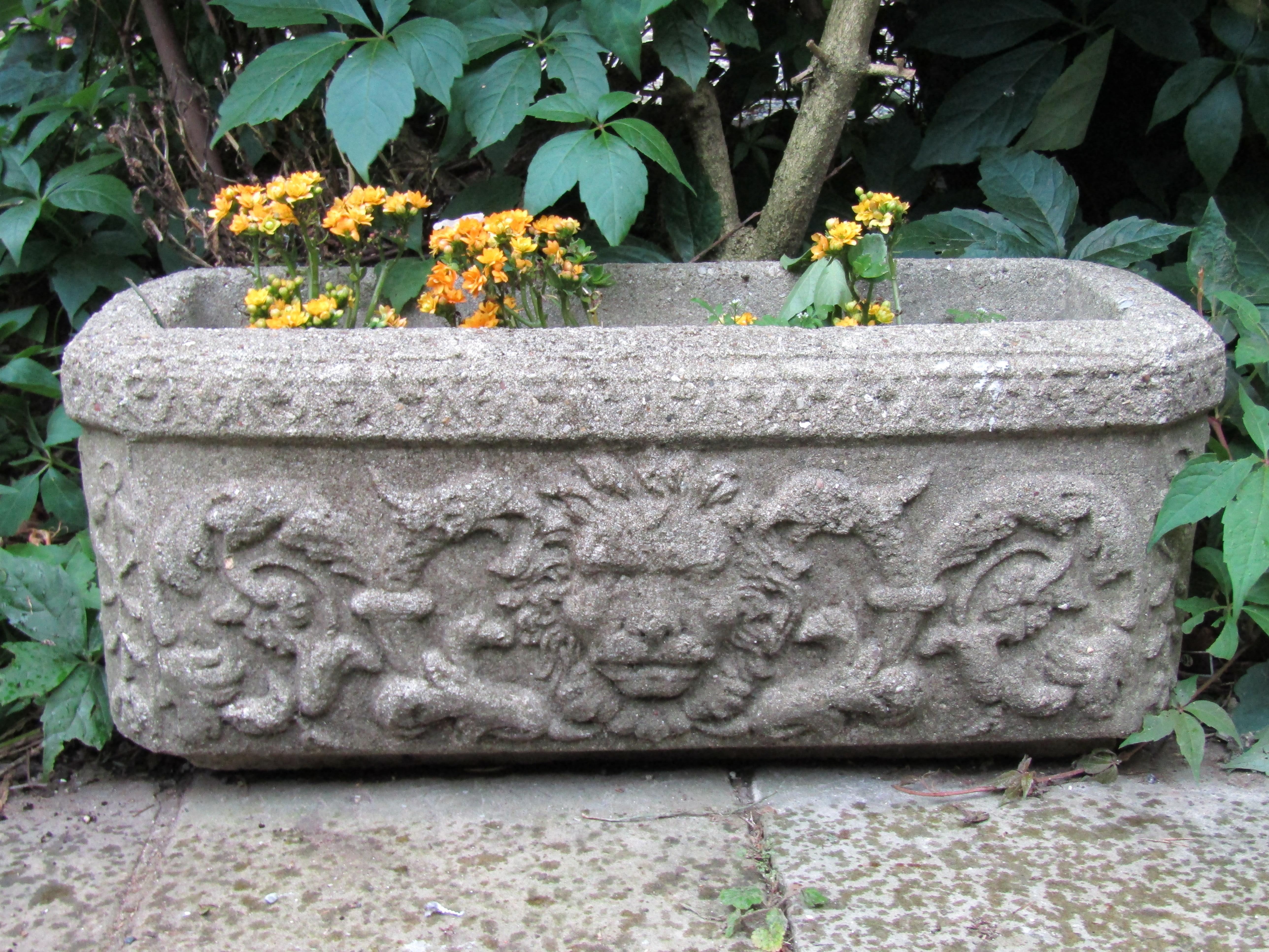 Ordinaire Set Of 11 Cast Reconstituted Stone Garden Planters Troughs 1900s Garden  Feature