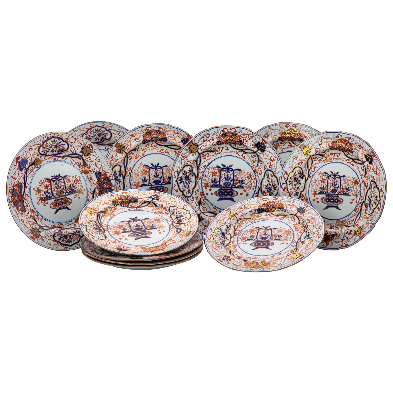 Set of 11 Early Spode Ironstone Imari Dessert Dishes Made circa 1810