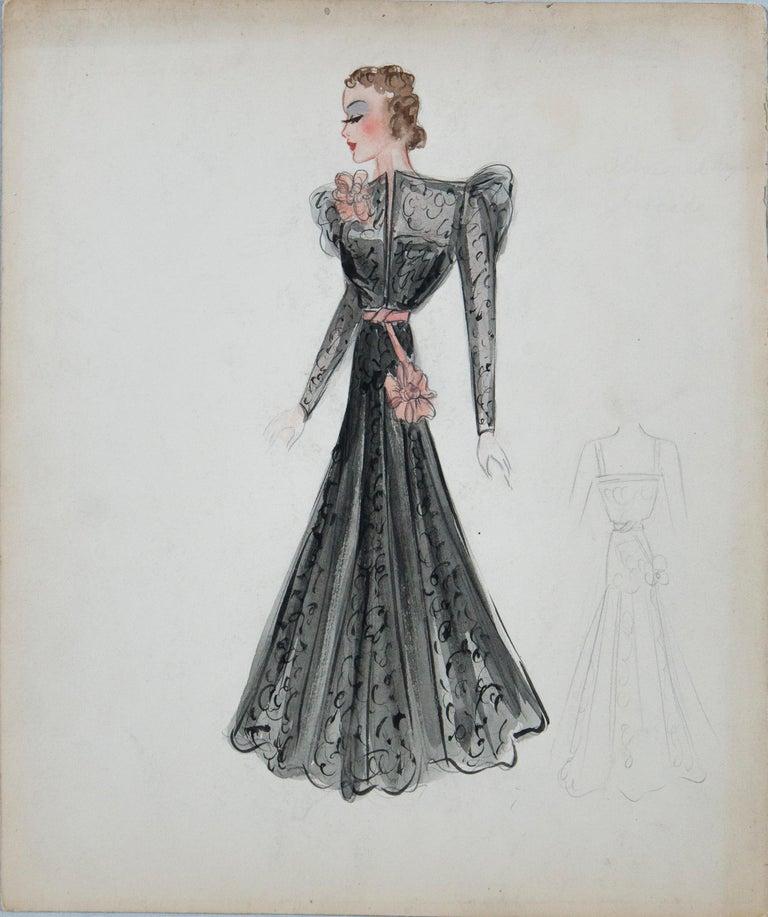 Set of 11 Paris Fashion Drawings, circa 1930 For Sale 1
