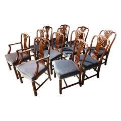 Set of 12 '10+2' Mid-20th Century Chairs of Hepplewhite Design