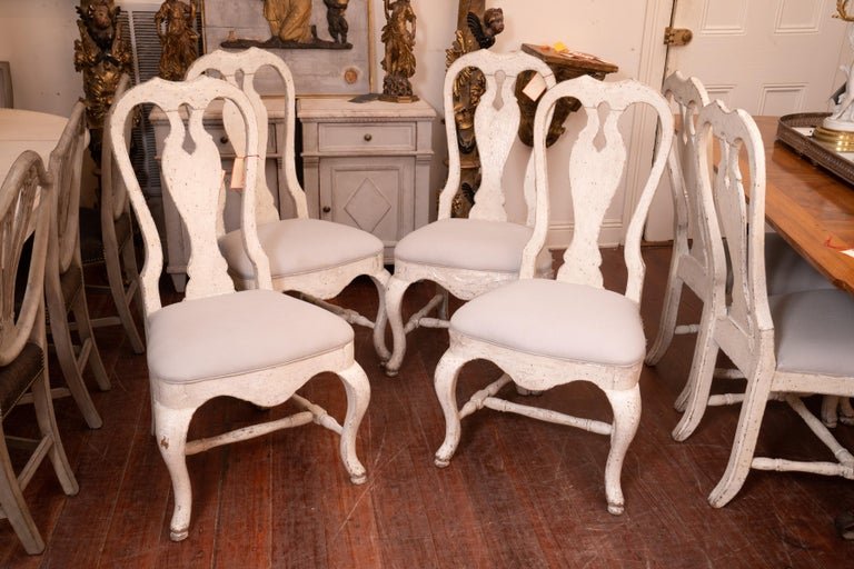 Late 19th Century Set of 12 19th Century Painted Dining Chairs For Sale