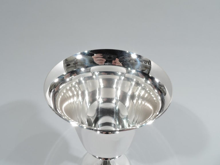Set of 12 American Modern Sterling Silver Goblets For Sale 1
