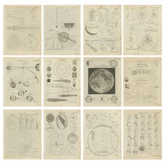 Set of 12 Antique Astronomy Prints by Bell 'c.1797'