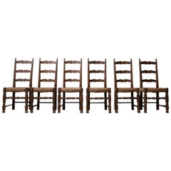 Set of 12 Antique French Farmhouse Dining Chairs