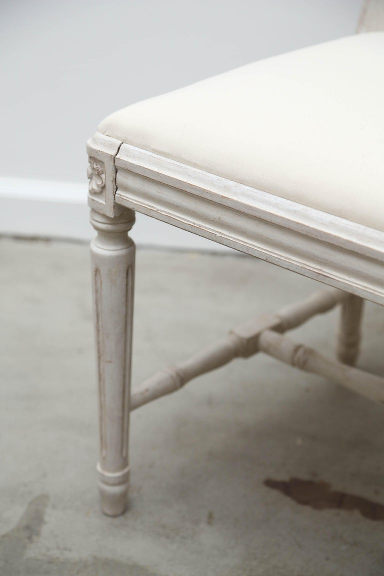 Set of 12 Antique Painted Gustavian Style Dining Chairs Early 20th Century In Good Condition For Sale In West Palm Beach, FL