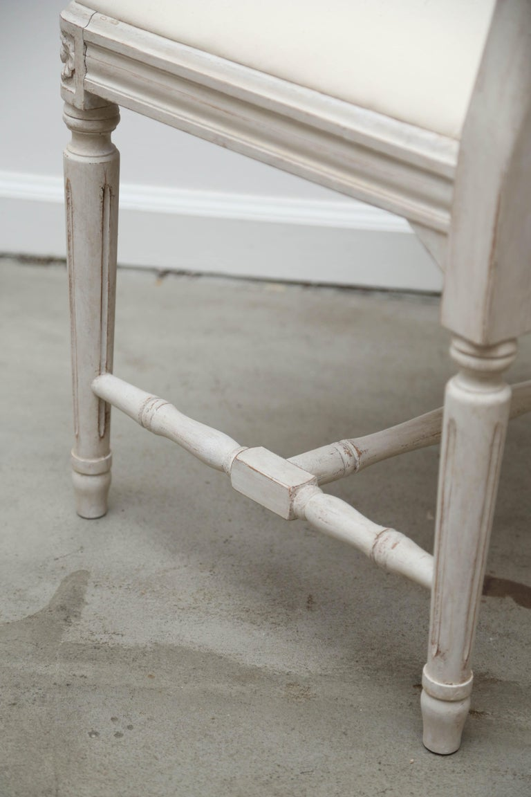 Set of 12 Antique Painted Gustavian Style Dining Chairs Early 20th Century For Sale 1