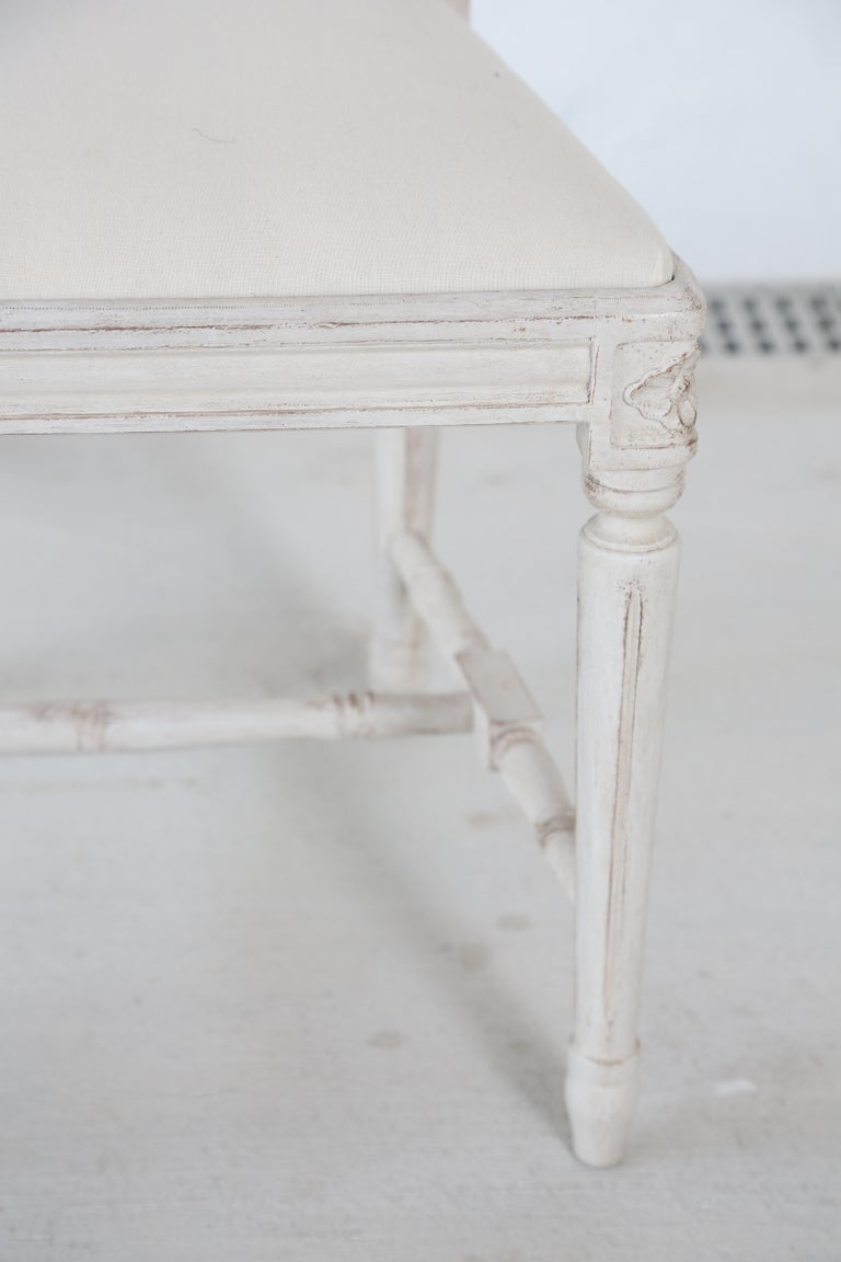 Set of 12 Antique Painted Gustavian Style Dining Chairs For Sale 1