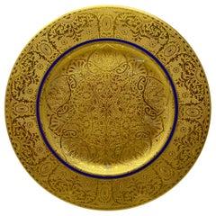 Set of 12 Antique Royal Bavarian 22-Karat Gold Serving Plates, circa 1890