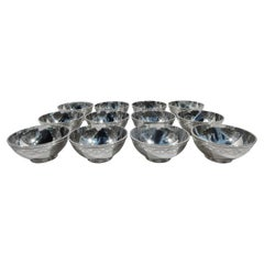 Set of 12 Antique Tiffany Winthrop Sterling Silver Bowls