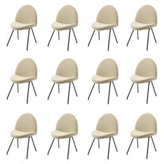 Set of 12 Chairs Model 771 by Joseph Andre Motte, France 1950's