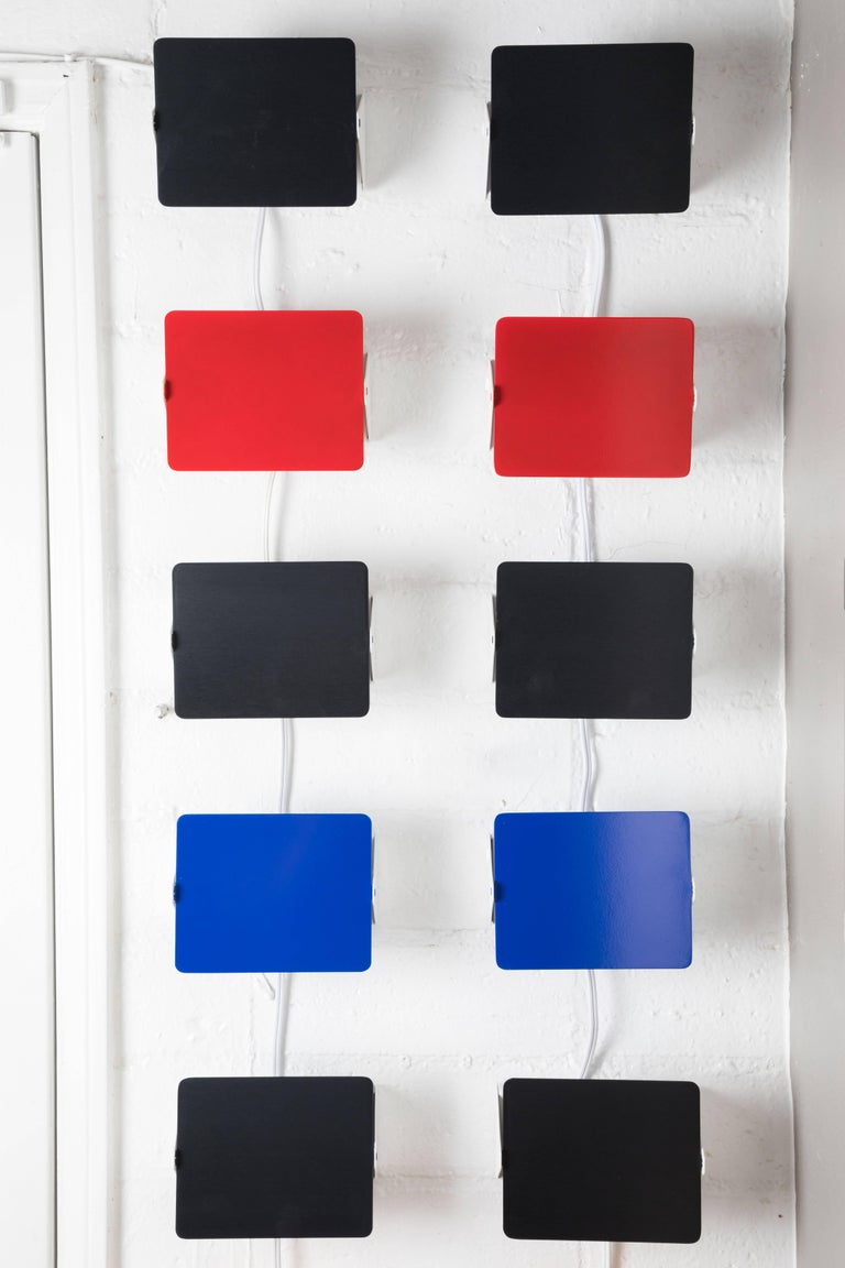 Set of 12 Charlotte Perriand 'CP1' Wall Lights For Sale 1