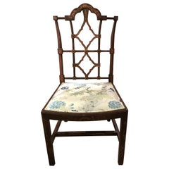 Set of 12 Chinese Chippendale Style Chairs Bu Patina Hand Painted