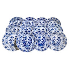 Set of 12 Chinese Export Plates, Pomegranate and Fish, Yongzheng, 1722-1735