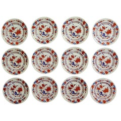 Set of 12 Chinese Export Porcelain Side Plates, Mid-20th Century