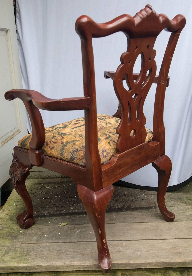 Set of 12 Chippendale Style Dining Chairs For Sale 4